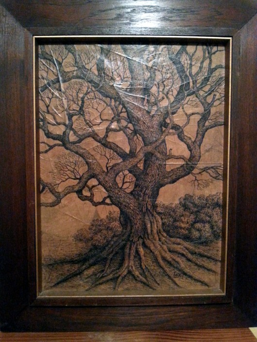 mike richardson pen ink tree